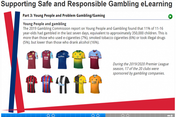 Safer gambling for the sport and for the next generation - a new learning tool is launched by the industry Image
